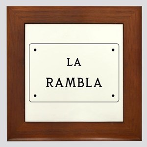 La Rambla, Barcelona, Spain Framed Tile
