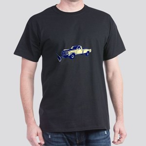 Snow Plow Truck Woodcut T-Shirt