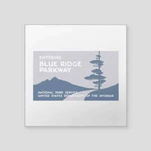 "Blue Ridge Parkway, VA & NC Square Sticker 3"" x 3"""
