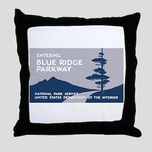 Blue Ridge Parkway, VA & NC - USA Throw Pillow