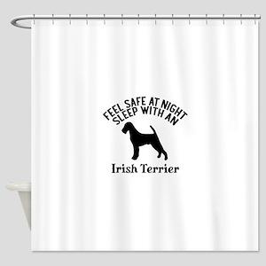 Feel Safe At Night Sleep With Irish Shower Curtain