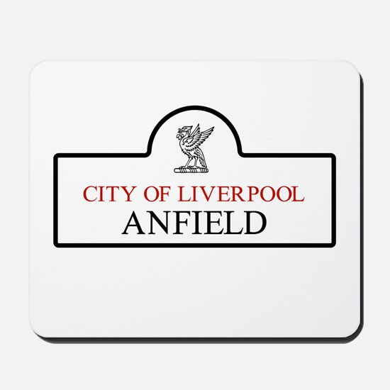 Anfield Borough, Liverpool, UK Mousepad
