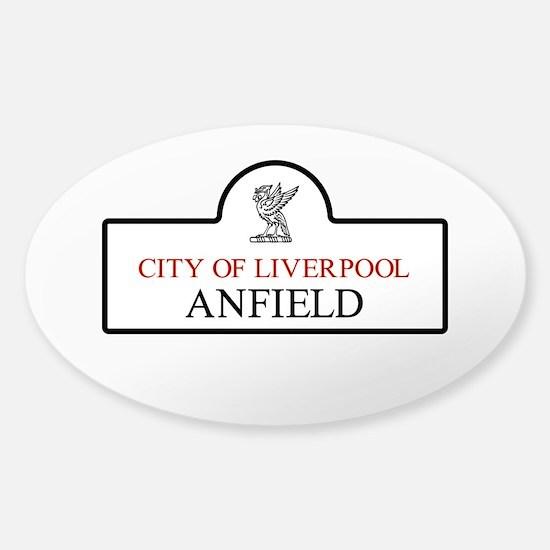 Anfield Borough, Liverpool, UK Sticker (Oval)