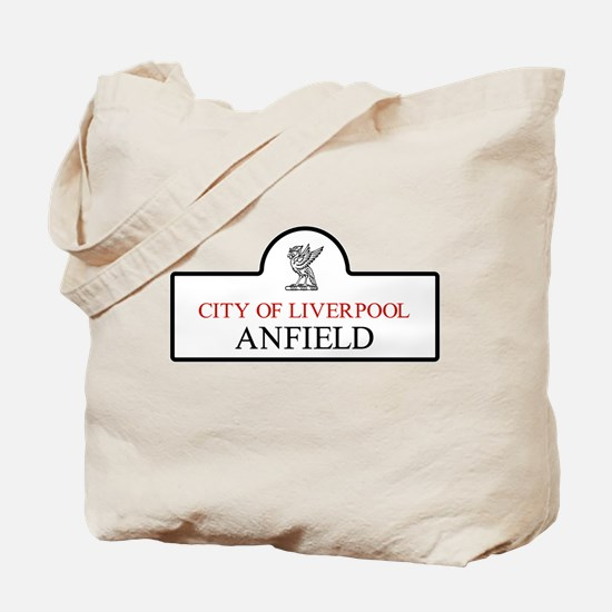 Anfield Borough, Liverpool, UK Tote Bag