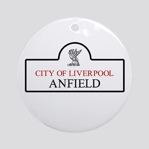 Anfield Borough, Liverpool, UK Round Ornament