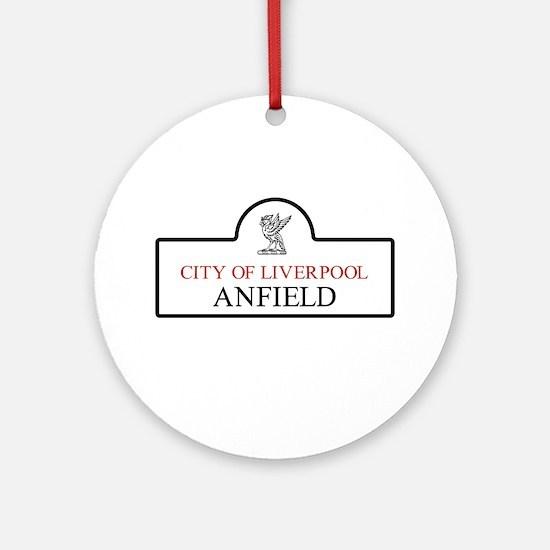 Anfield Borough, Liverpool, UK Round Ornament