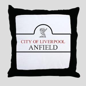 Anfield Borough, Liverpool, UK Throw Pillow