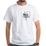 Frilled Lizard White T-Shirt