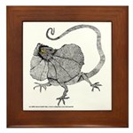 Frilled Lizard Framed Tile