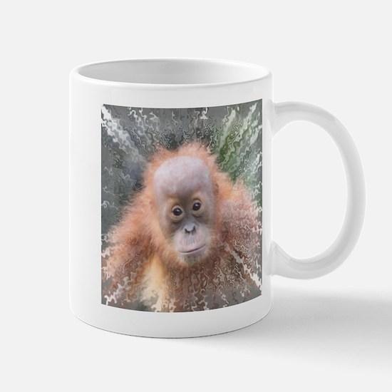 Explosive Animal - Orangutan baby Mugs