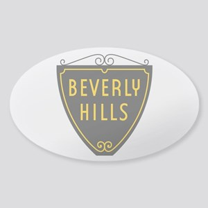 Beverly Hills, LA, California - USA Sticker (Oval)