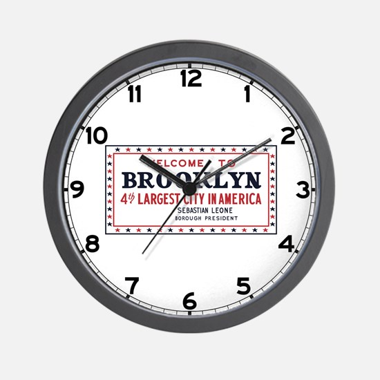 Welcome to Brooklyn, New York - USA Wall Clock