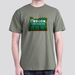 Oregon Welcomes You - USA Dark T-Shirt
