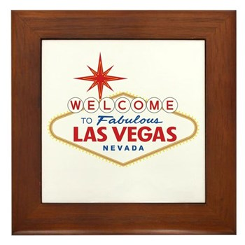 Welcome to Fabulous Las Vegas, NV Framed Tile