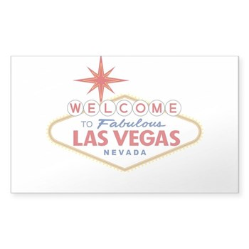 Welcome to Fabulous Las Vegas, Sticker (Rectangle)