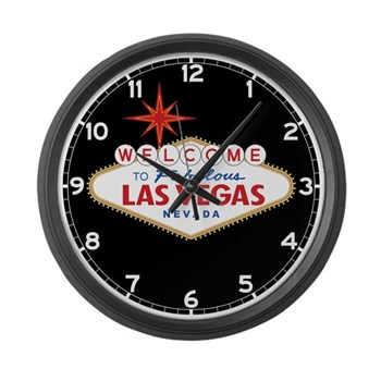 Welcome to Fabulous Las Vegas, NV Large Wall Clock
