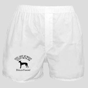 Feel Safe At Night Sleep With Ibizan Boxer Shorts