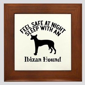 Feel Safe At Night Sleep With Ibizan H Framed Tile