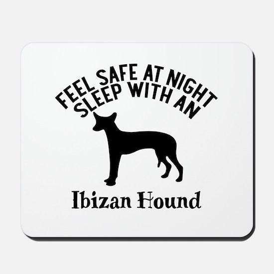 Feel Safe At Night Sleep With Ibizan Hou Mousepad