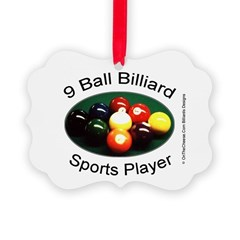 9 Ball Billiard Sports Player Ornament