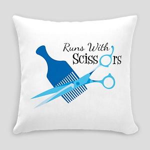 Runs with Scissors Everyday Pillow