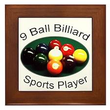 9 Ball Billiard Sports Player Framed Tile