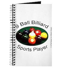 9 Ball Billiard Sports Player Journal