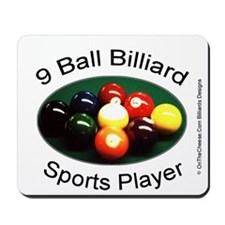 9 Ball Billiard Sports Player Mousepad