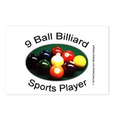 9 Ball Billiard Sports Pl Postcards (Package of 8)