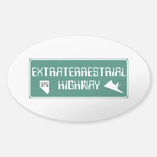 Extraterrestrial Highway, Nevada - Sticker (Oval)