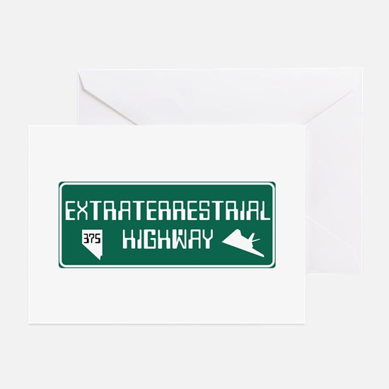 Extraterrestrial Highway Greeting Cards (Pk of 10)
