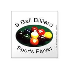 9 Ball Billiard Sports Play Square Sticker 3