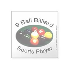 9 Ball Billiard Sports Play Square Sticker 3
