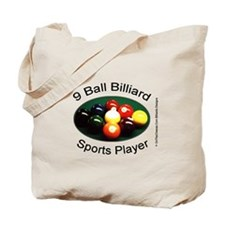 9 Ball Billiard Sports Player Tote Bag