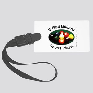 9 Ball Billiard Sports Player Large Luggage Tag