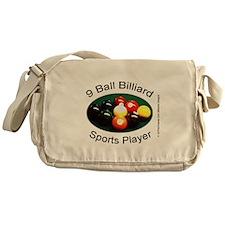 9 Ball Billiard Sports Player Messenger Bag