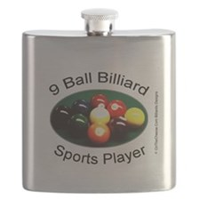 9 Ball Billiard Sports Player Flask
