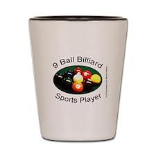 9 Ball Billiard Sports Player Shot Glass