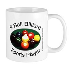 9 Ball Billiard Sports Player Mug
