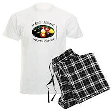 9 Ball Billiard Sports Player Men's Light Pajamas