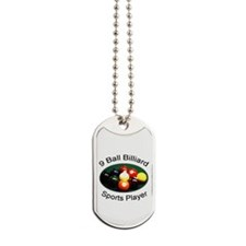9 Ball Billiard Sports Player Dog Tags