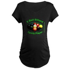 9 Ball Billiard Sports Play Maternity Dark T-Shirt