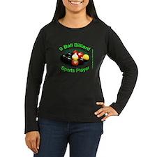 9 Ball Billiard S Women's Long Sleeve Dark T-Shirt