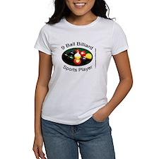 9 Ball Billiard Sports Player Women's T-Shirt