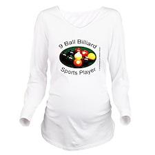9 Ball Billiard Spor Long Sleeve Maternity T-Shirt
