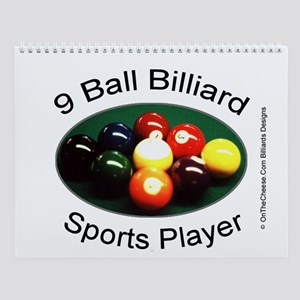 9 Ball Billiard Sports Player Wall Calendar