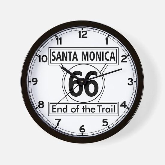 Santa Monica End of Trail, California - Wall Clock