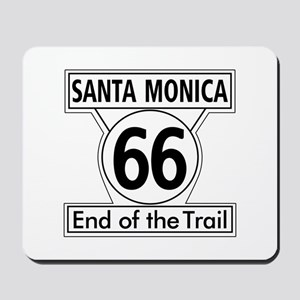 Santa Monica End of Trail, California - Mousepad