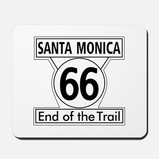 Santa Monica End of Trail, California - Mousepad