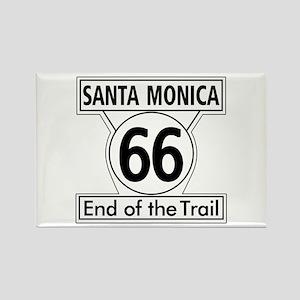 Santa Monica End of Trail, Califo Rectangle Magnet